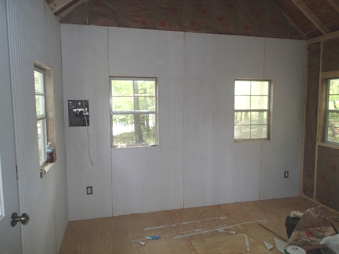 Building a Tiny House Part 4 Interior Walls