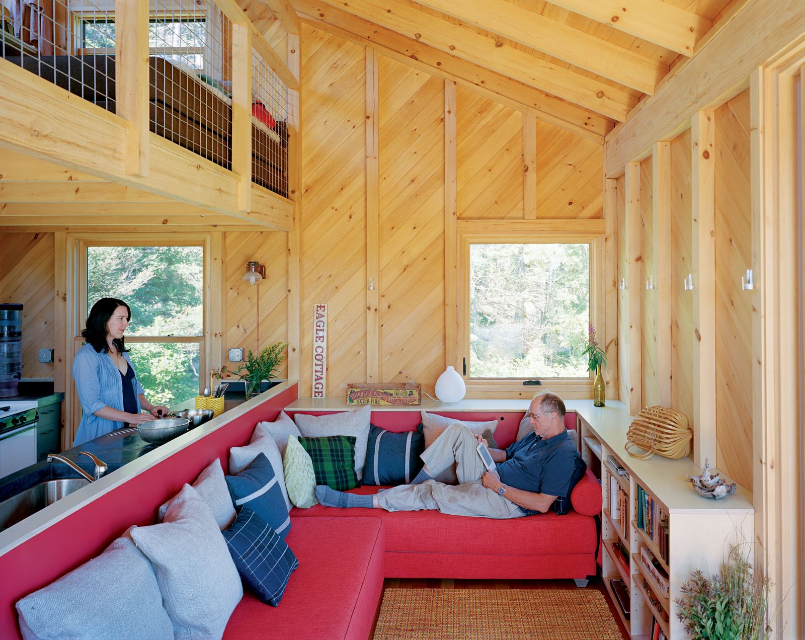 modern ideas bunk pdf bed cabin style wood maine cottage plans house